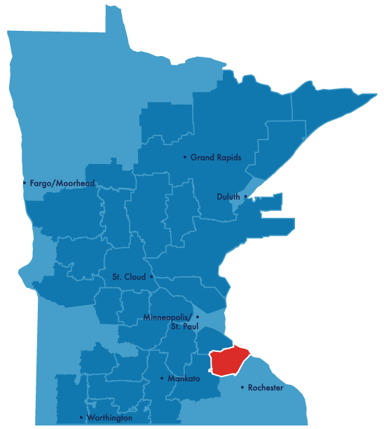 Goodhue service territory map