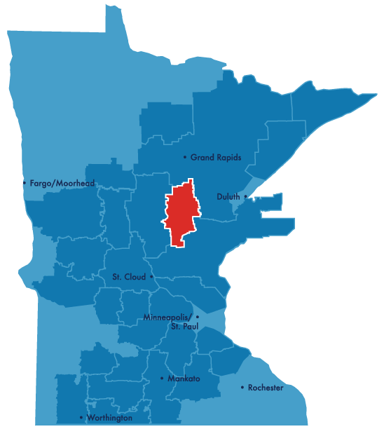 mille lacs service territory map