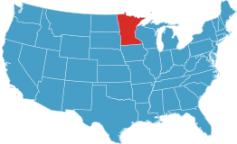 usa map showing location of minnesota