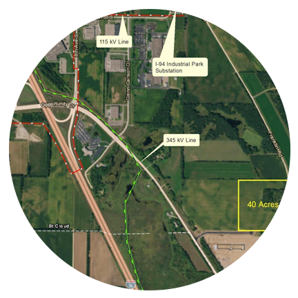 County Road 75/I-94 Business Park Data Center Site (St. Cloud, MN)